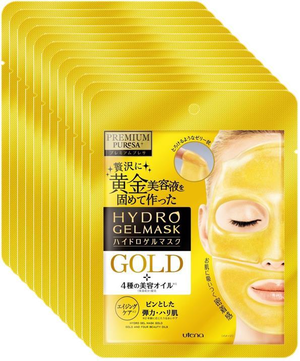 ウテナ プレミアムプレサ ハイドロゲルマスク ゴールド 25g(1回分)×12個セット