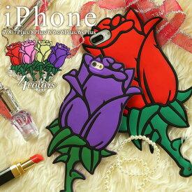 iPhone6 6s 6Plus 6sPlus 7 7Plus 8 8Plus ビッグローズケース | スマホ ケース スマホ カバー アップル アイフォン iPhone アイフォーン アイホン iPhone アイフォン バラ 薔薇 ばら ローズ スマホ保護 スマホカバー シリコン ソフトケース iPhoneケース 1000円 送料無料