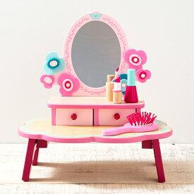 DJECO フローラドレッシングテーブル お化粧道具 ドレッサー メイク道具 メイクアップ コスメ ジェコ 誕生日 プレゼント おもちゃ 女の子 4歳 5歳 6歳 送料無料