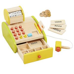 エドインター 木のおもちゃ 森のくるくるピッピ!レジスター 木製 知育玩具 レジ 女の子 男の子 出産祝い 誕生日 プレゼント 3歳 4歳 5歳 送料無料