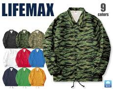 MJ0077コーチジャケット(裏地あり)カジュアルイベントスポーツカモフラージュストリートLIFEMAXライフマックス