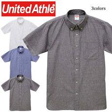 1268-01オックスフォードボタンダウンショートスリーブシャツユナイテッドアスレ