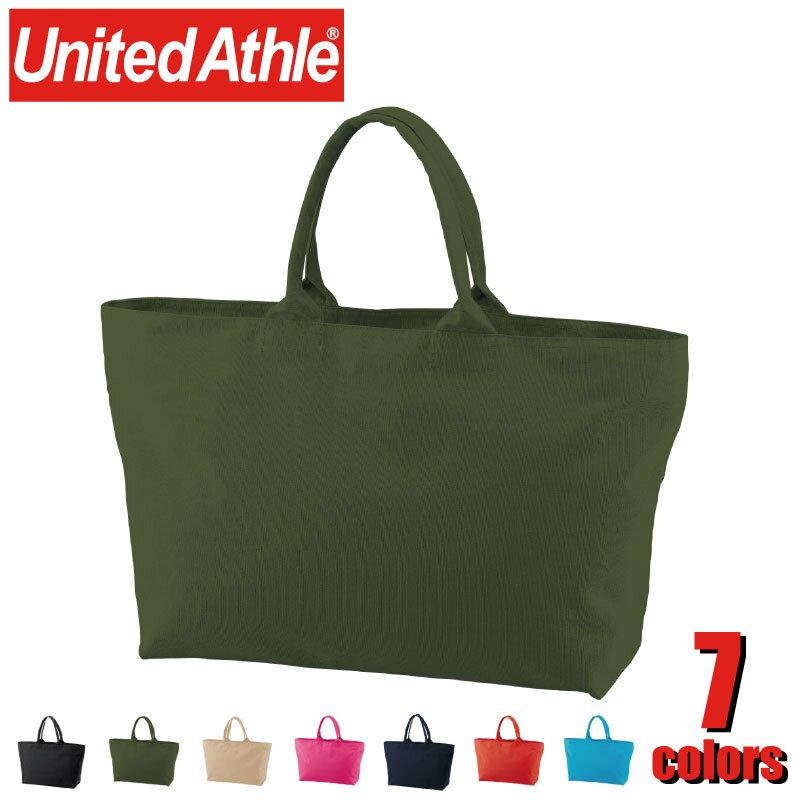 1515-01 14.3オンス キャンバス ジップ トートバッグ/鞄/カジュアル 大容量 United Athle ユナイテッドアスレ