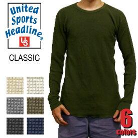 USP--T1210 サーマル長袖T UNITED SPORTS HEADLINE ユナイテッド スポーツ ロングスリーブTシャツ 長袖 ワッフル カジュアル
