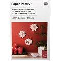 クリスマスに最適!ペーパーバッグ・紙袋でつくる星型オーナメント赤ドット(KITPAP.BAGSSTAR,DOT,WHITE)【メール便発送可】