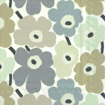 marimekko マリメッコ 可愛い ペーパーナプキン デコパージュ☆MINI UNIKOT linen☆(1枚/バラ売り)
