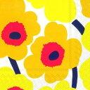 marimekko マリメッコ 可愛い ペーパーナプキン デコパージュ☆UNIKKO dark yellow ウニッコ ダークイエロー 黄…