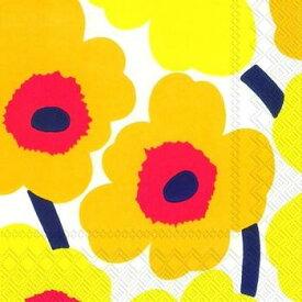 marimekko マリメッコ 可愛い ペーパーナプキン デコパージュ☆UNIKKO dark yellow ウニッコ ダークイエロー 黄色☆(20枚入り)