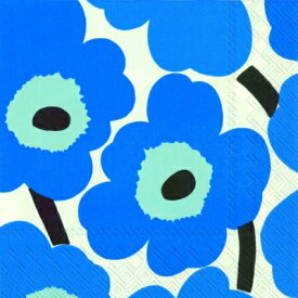 marimekko マリメッコ 可愛い ペーパーナプキン デコパージュ☆UNIKKO blue☆(20枚入り)