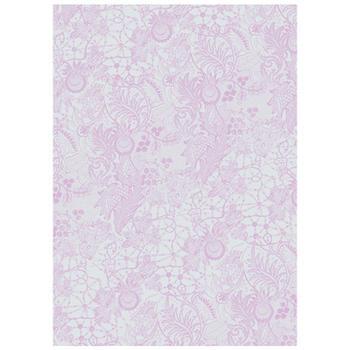 可愛いペーパーパッチ デコパッチ☆レース柄 ピンクパープル☆(Lace purple)【メール発送可】