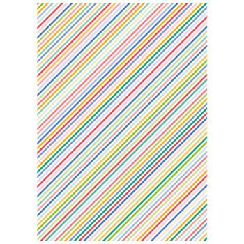 可愛いペーパーパッチ デコパッチ☆ストライプ マルチカラー☆(Stripes multicolor)【メール発送可】