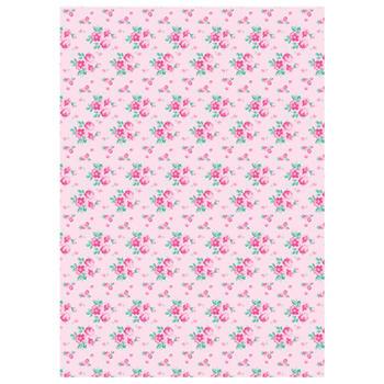 可愛いペーパーパッチ デコパッチ☆ローズ 薔薇 ピンク☆(Roses pink)【メール発送可】