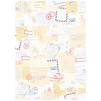 可愛いペーパーパッチ デコパッチ☆レター柄 手紙 ポストカード ☆(International post)【メール発送可】