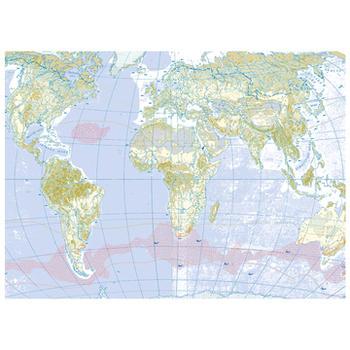 可愛いペーパーパッチ デコパッチ☆世界地図☆(World map)【メール発送可】