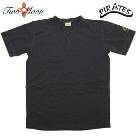 TWO MOON トゥー・ムーン ショートスリーブ 2 ボタン ヘンリーネック Tシャツ 24223