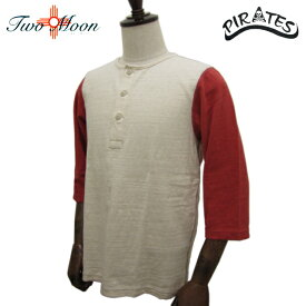 TWO MOON トゥー・ムーン カリフォルニア コットン ムララフ天竺 七分袖 ヘンリーネックTシャツ 20224