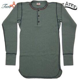TWO MOON トゥームーン ヘンリーネック オールドサーマル ロングスリーブ Tシャツ 26507