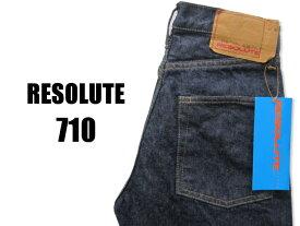 RESOLUTE リゾルト 710 ワンウォッシュ済み 細身のストレート W28〜34
