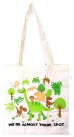 キャラクター・エコ(トート)バック(ショッピングバッグ・買い物袋・コットンバッグ)アーロと少年(森の中・生成)【ゆうパケット(メール便)OK】
