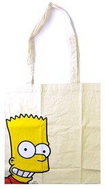 キャラクター・エコ(トート)バック(ショッピングバッグ・買い物袋・コットンバッグ)ザ・シンプソンズ(バート・生成)【ゆうパケット(メール便)OK】
