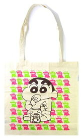 キャラクター・エコ(トート)バック(ショッピングバッグ・買い物袋・コットンバッグ)クレヨンしんちゃん(チョコビ・生成)【ゆうパケット(メール便)OK】