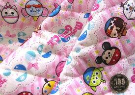 Q- キルト - キャラクター キルティング 生地 お手軽セット はぎれ 40cm マジカルガチャコーデ・ディズニー(ピンク)#2