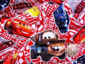 Q- キルト - キャラクター キルティング 生地 お手軽セット はぎれ 40cm Cars(カーズ)(赤)#26・ディズニー