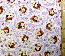 <キャラクター生地・布>ちいさなプリンセス・ソフィア(パープル)#12【ディズニー】【生地】【布】【キャラクター生地】【入園 入学】