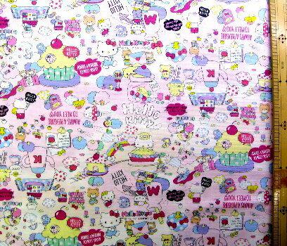 キティ(ピンク/ピンク)#225(ビニールコーティング・ラミネート生地)【×クロネコDM便不可】
