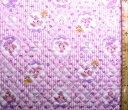 <Qキャラクター・キルティング生地>ぼんぼんりぼん(ピンクストライプ)#12【キルティング】【キルト】【キャラク…