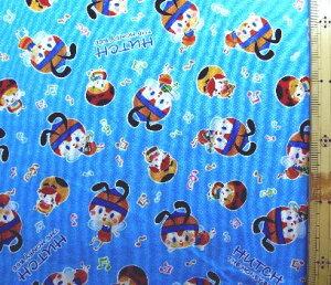 巾着袋(材料セット)・レシピ付き ハッチ ザ ハニービー(みつばちハッチ) (ブルー)【体操服入れ・給食袋・お弁当袋・コップ袋が各1個(合計4個)作れます】( キャラクター 生地 材