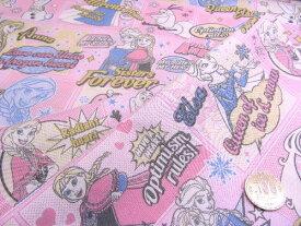 < ハギレ 40cm > キャラクター 生地 はぎれ カットクロス アナと雪の女王 ( ピンク ) 柄番号16 ディズニー( あな雪 アナ雪 アナ エルサ オラフ ディズニー )