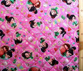 シュガー ラッシュ:オンライン ( ピンク ) ( 材料セット レシピ付き キルティング ) レッスンバック ( またはピアニカケース ) とシューズケース用手作りキット ( キャラクター 生地 材料キット ) 【メール便 ( ゆうパケット ) OK】