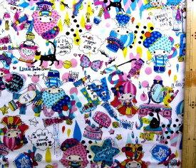 キャラクター 生地 キキララ×ホラグチカヨ ( オフ ) ( 2019 ) 【 生地 】【 布 】【 キャラクター生地 】【 入園 】【 入学 】