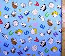 ◇ 巾着袋 ( 材料セット ) レシピ付き スヌーピー ( ブルー ) 柄番号131【体操服入れ 給食袋 お弁当袋 コップ袋が各…