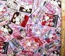 <Qキャラクター・キルティング生地>ドナルドダックとチップ&デール(ピンク)ディズニー【キルティング】【キルト】【キャラクター】【キルティング生地】【布】【入園】【入学】
