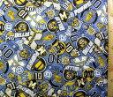 <Qキャラクター・キルティング生地>怪盗グルー(ミニオンズ)(ブルー)#5【キルティング】【キルト】【キャラクター】【キルティング生地】【布】【入園】【入学】