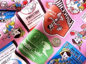 キャラクター 生地 はぎれ カットクロス ハギレ 40cm ピノキオ(ピンク)ディズニー