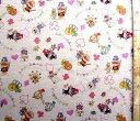巾着袋(材料セット)・アンパンマン(生成/ピンク)#64【体操服入れ・給食袋・お弁当袋・コップ袋が各1個(合計4個)作れます】【クロネコDM便OK】