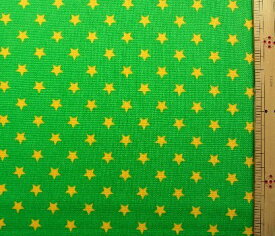 プリント生地 スターライト ( グリーン ) ( 星 星柄 空 スター ドット かわいい おしゃれ 男の子 女の子 子供 入園 入学 )
