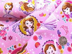 生地 キャラクター はぎれ カットクロス ハギレ 40cm ちいさなプリンセス・ソフィア(ピンク)#8【ディズニー】