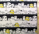 <キャラクターハンプ生地・布>怪盗グルー(ミニオンズ)(生成/黒)#4(1mまでクロネコDM便OK)【キャラクター】【…