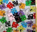 <キャラクター生地・布>バーバパパ(グレー)#3【キャラクター】【生地】【布】【キャラクター生地】【入園 入学】