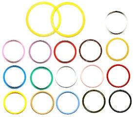 ファンシープラスチック・カラー持ち手(手口)・丸型カラーリング【手芸用品・手芸材料】(4セットのみメール便(ゆうパケット)可能です)