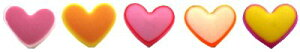チルドボタン ( バラ釦 ) カラフル ハート ボタン ( 型抜き ) 11.5ミリ ( 小サイズ ) ( ボタン チルドボタン チャイルド ボタン ぼたん 釦 飾り 可愛い かわいい 子供 こども 手芸 ) 【メール
