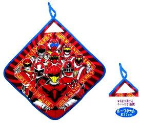 キャラクター ループ付きタオル ( 大 ) スーパー戦隊シリーズ ( ループ大34 ) 赤 ふち青