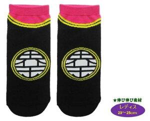 キャラクター ソックス ( 靴下 ) ドラゴンボールZ ( レディス23〜25cm ) ( 界王様マーク/黒×ピンク )
