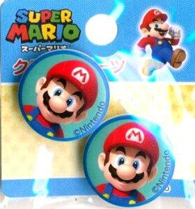 キャラクター ボタン スーパーマリオ ( 丸 ボタン ) マリオ ( キャラクター ボタン チルドボタン チャイルド ボタン ぼたん 釦 飾り アクセサリー 可愛い かわいい 子供 こども 手芸 ) 【メ