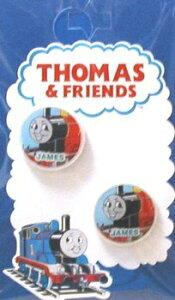 キャラクター ボタン 機関車トーマス ( 丸 ボタン ) 小 ジェームス ( キャラクター ボタン チルドボタン チャイルド ボタン ぼたん 釦 飾り アクセサリー 可愛い かわいい 子供 こども 手芸
