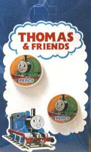 キャラクター ボタン 機関車トーマス ( 丸 ボタン ) 小 パーシー ( キャラクター ボタン チルドボタン チャイルド ボタン ぼたん 釦 飾り アクセサリー 可愛い かわいい 子供 こども 手芸 )